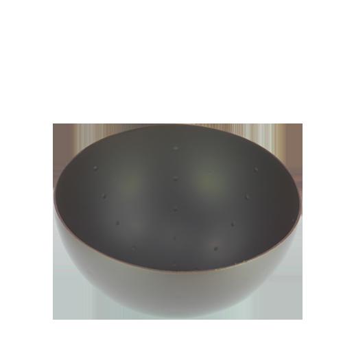 Coupelle ronde noir
